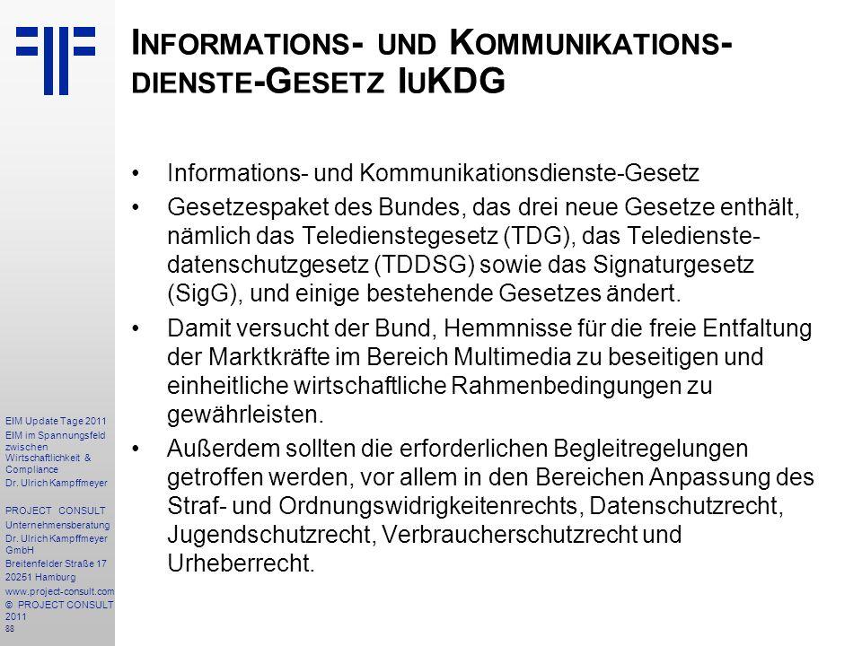 Informations- und Kommunikations-dienste-Gesetz IuKDG