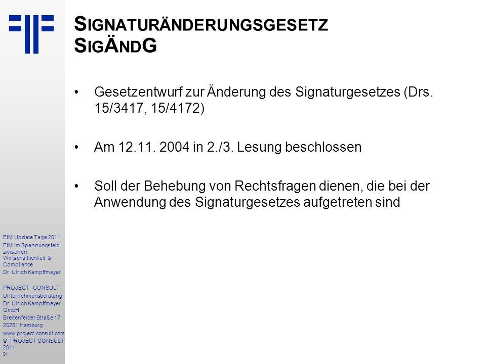 Signaturänderungsgesetz SigÄndG