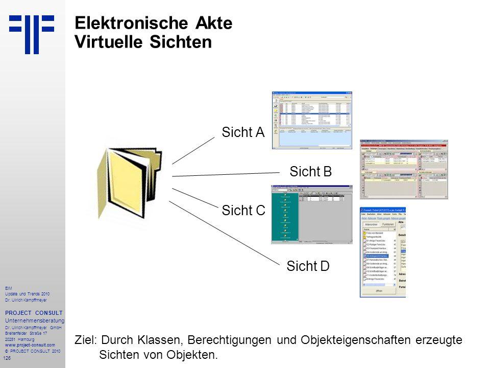 Elektronische Akte Virtuelle Sichten