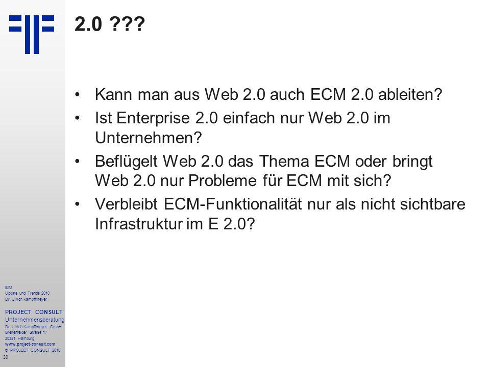2.0 Kann man aus Web 2.0 auch ECM 2.0 ableiten