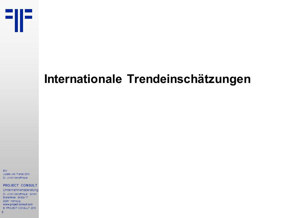 Internationale Trendeinschätzungen