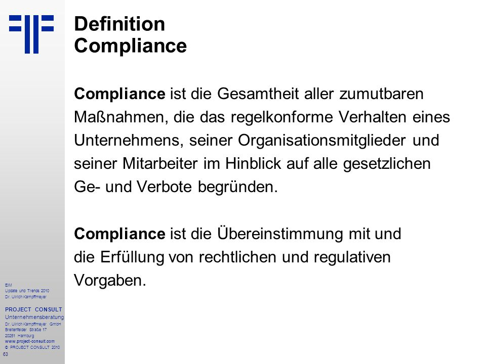 Definition Compliance