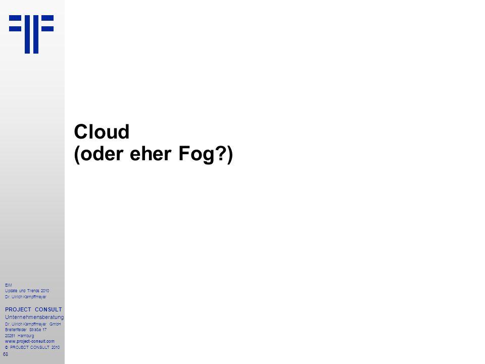 Cloud (oder eher Fog )