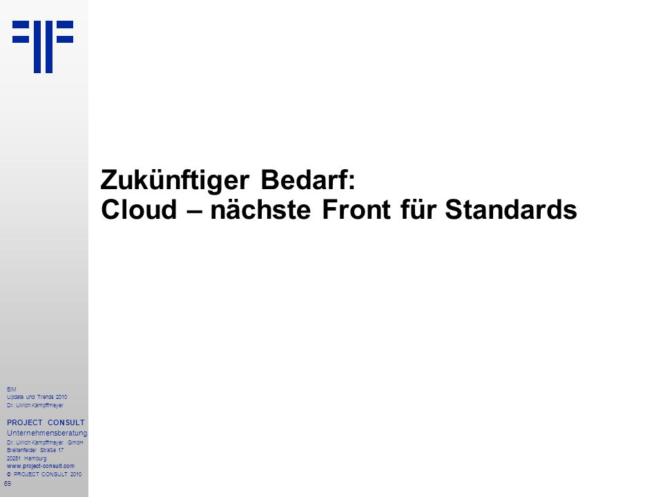 Zukünftiger Bedarf: Cloud – nächste Front für Standards