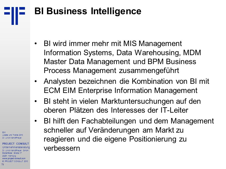BI Business Intelligence