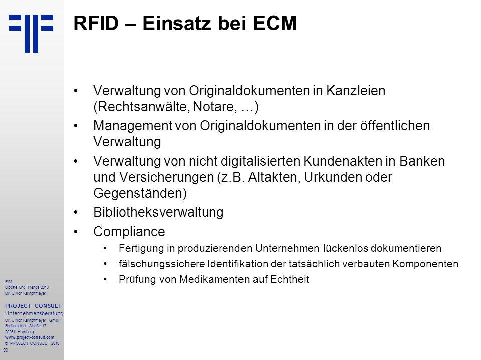 RFID – Einsatz bei ECM Verwaltung von Originaldokumenten in Kanzleien (Rechtsanwälte, Notare, …)