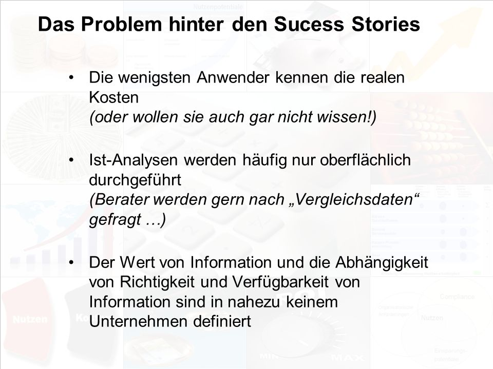 Das Problem hinter den Sucess Stories
