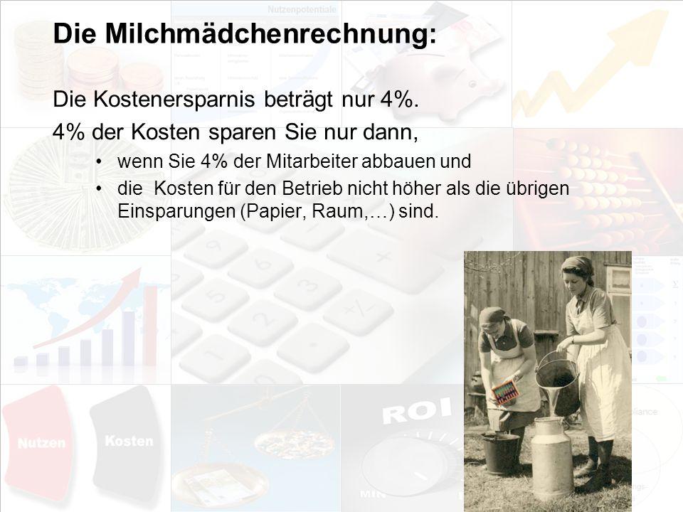 Die Milchmädchenrechnung: