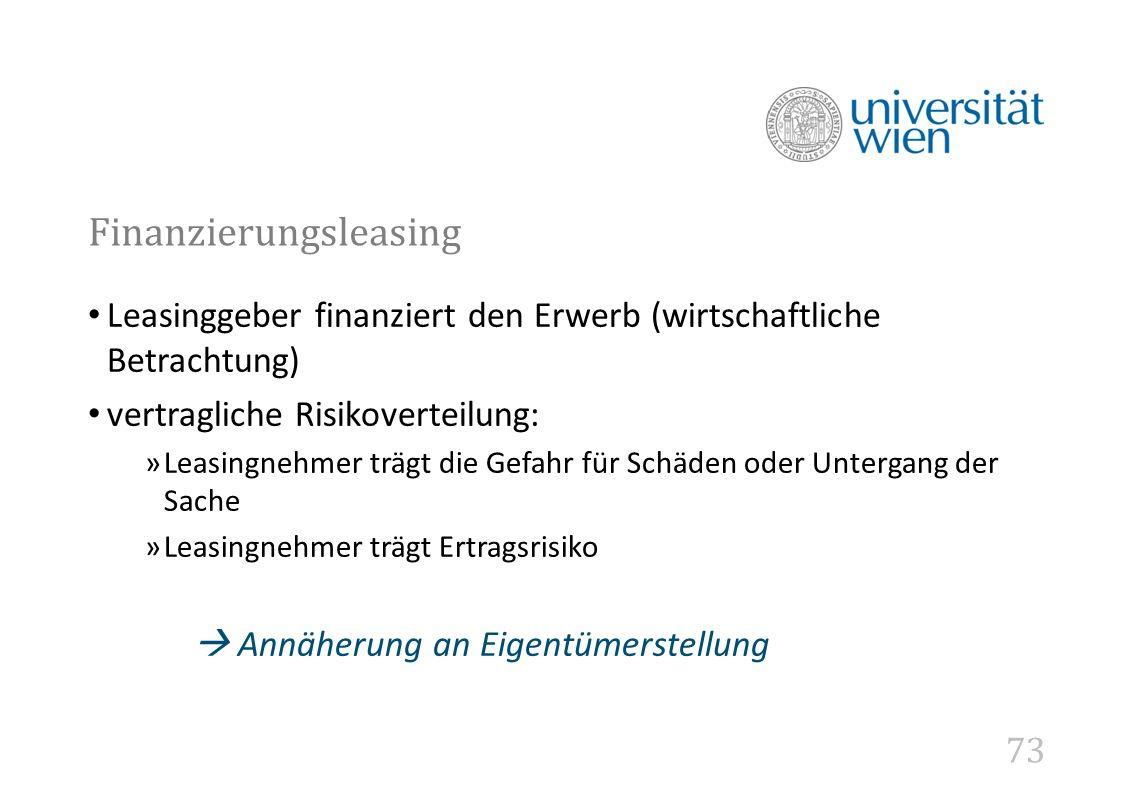 Finanzierungsleasing