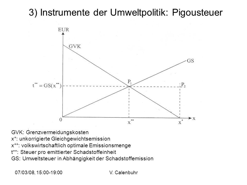 3) Instrumente der Umweltpolitik: Pigousteuer