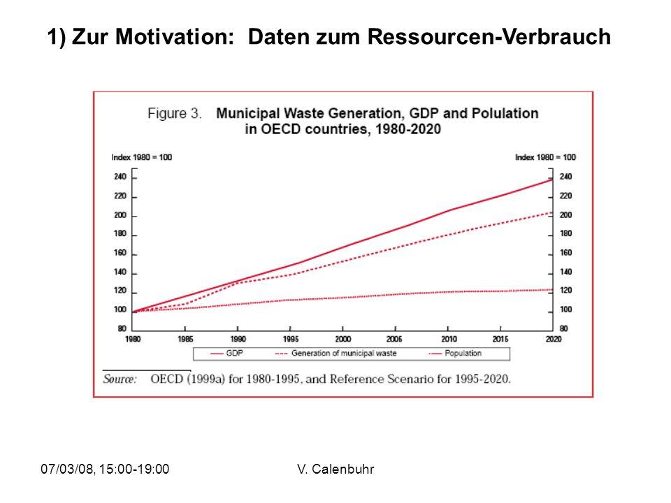 1) Zur Motivation: Daten zum Ressourcen-Verbrauch