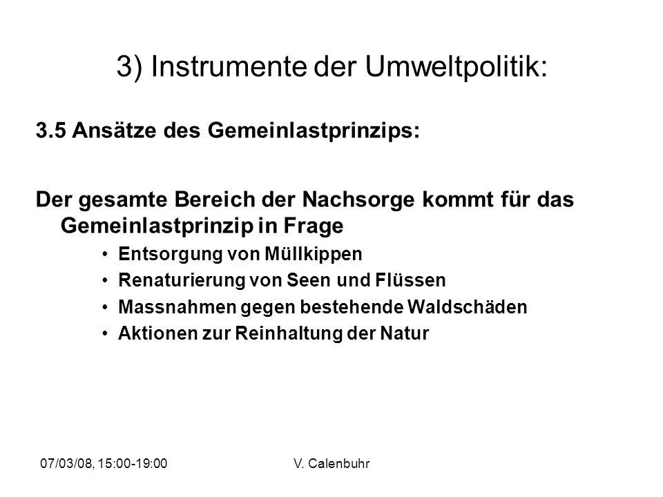 3) Instrumente der Umweltpolitik: