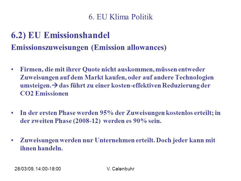 6.2) EU Emissionshandel 6. EU Klima Politik