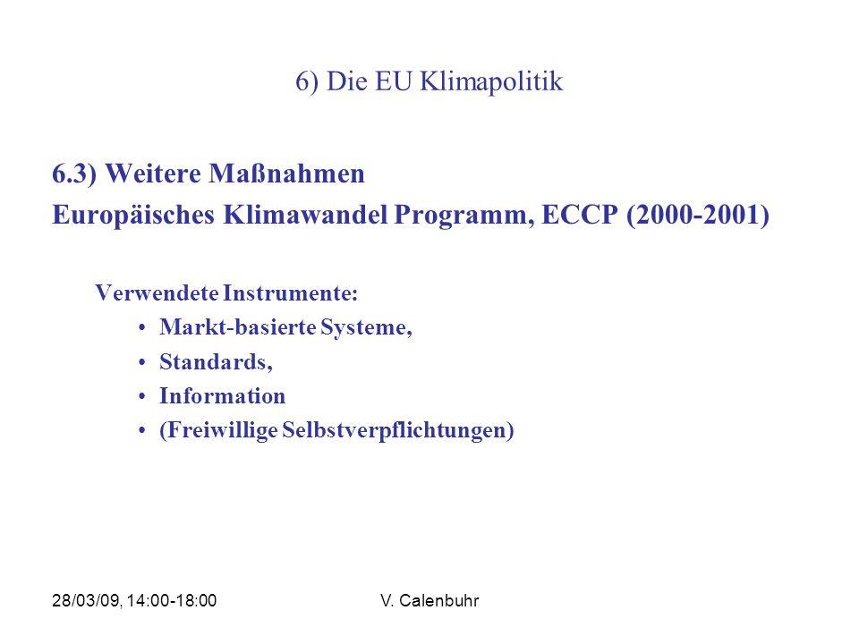 Europäisches Klimawandel Programm, ECCP (2000-2001)