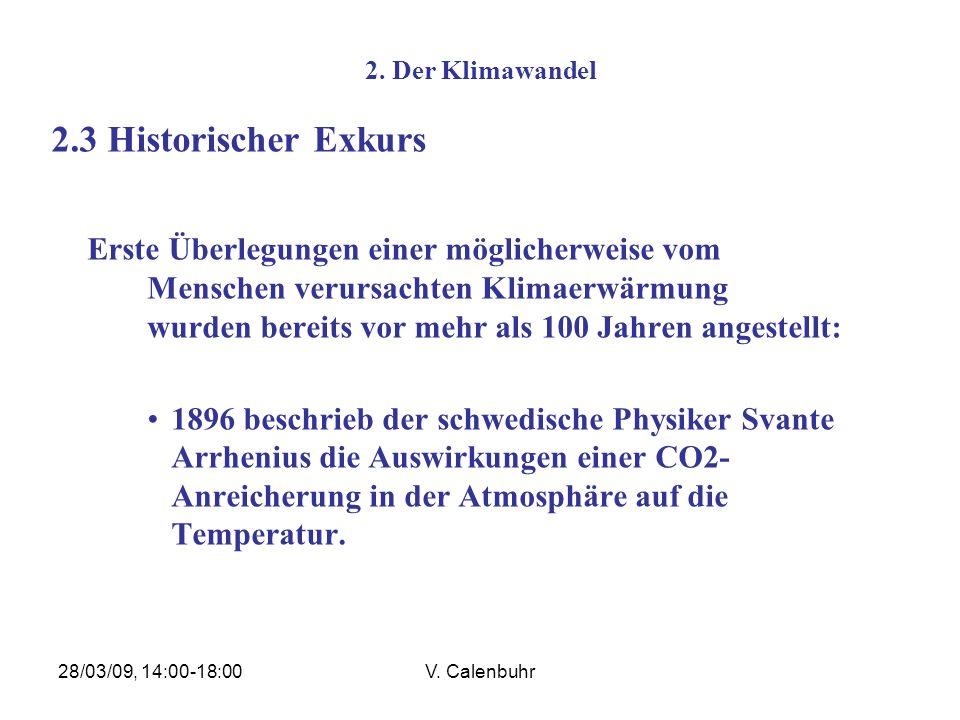 2. Der Klimawandel 2.3 Historischer Exkurs.