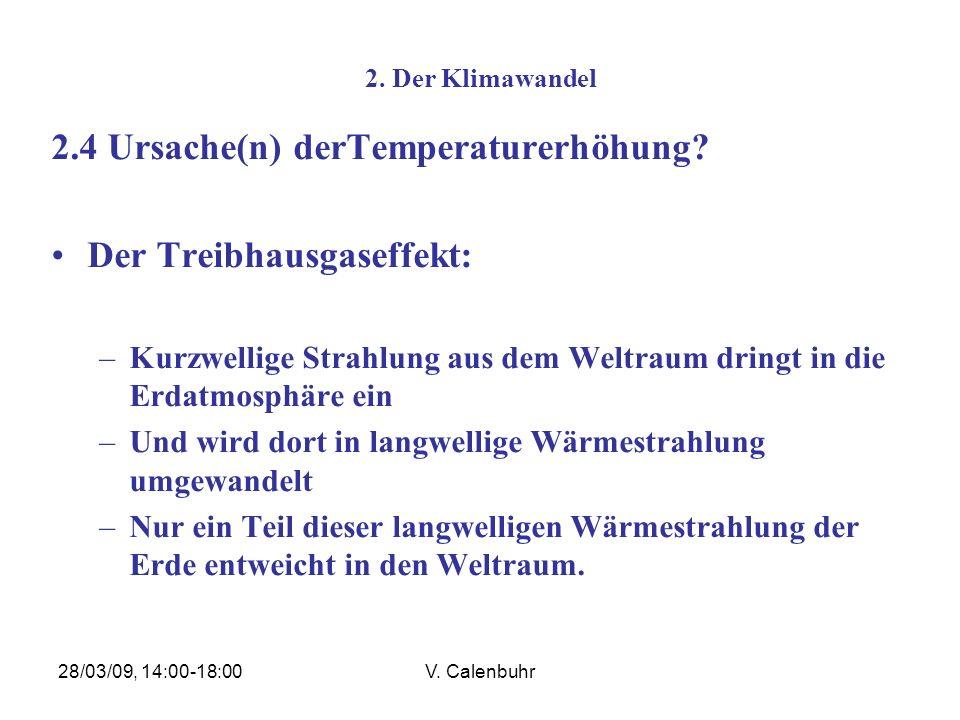 2.4 Ursache(n) derTemperaturerhöhung Der Treibhausgaseffekt: