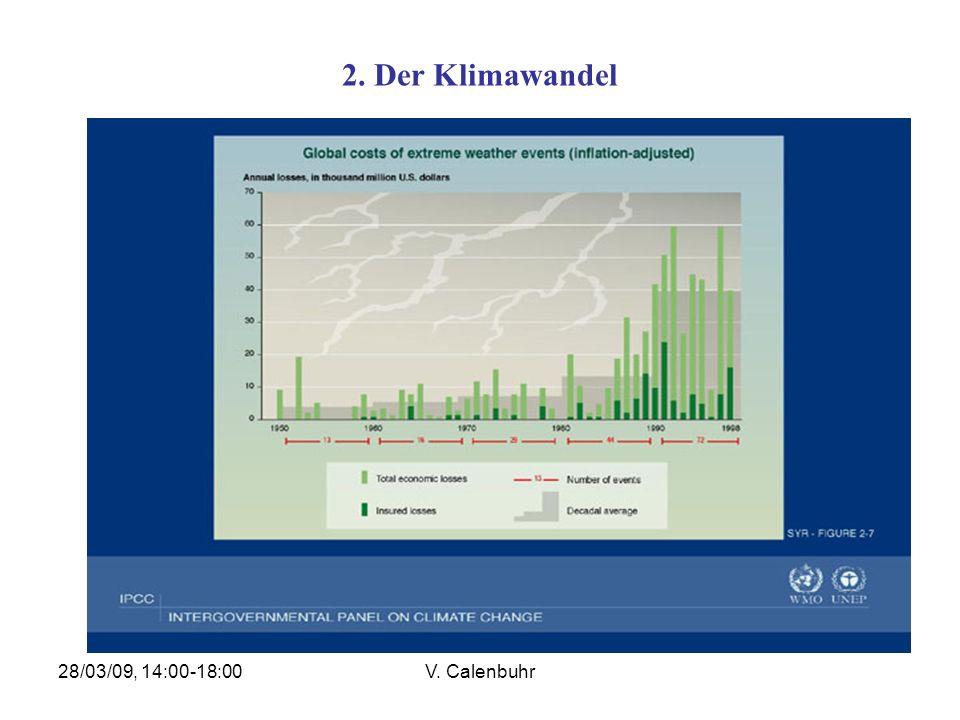 2. Der Klimawandel 28/03/09, 14:00-18:00 V. Calenbuhr