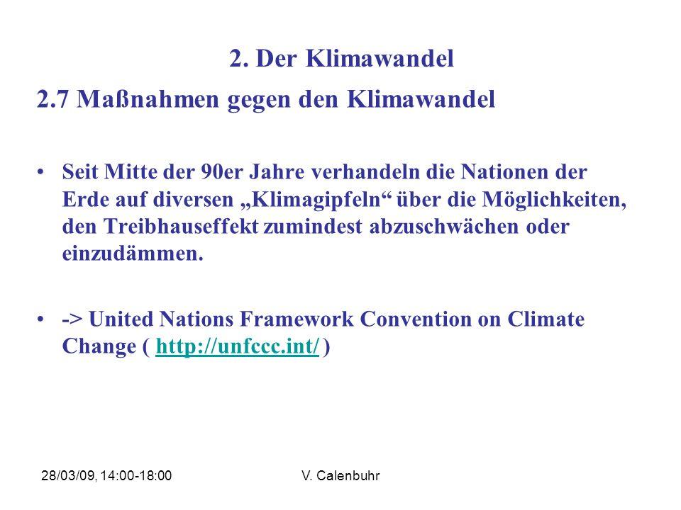 2.7 Maßnahmen gegen den Klimawandel