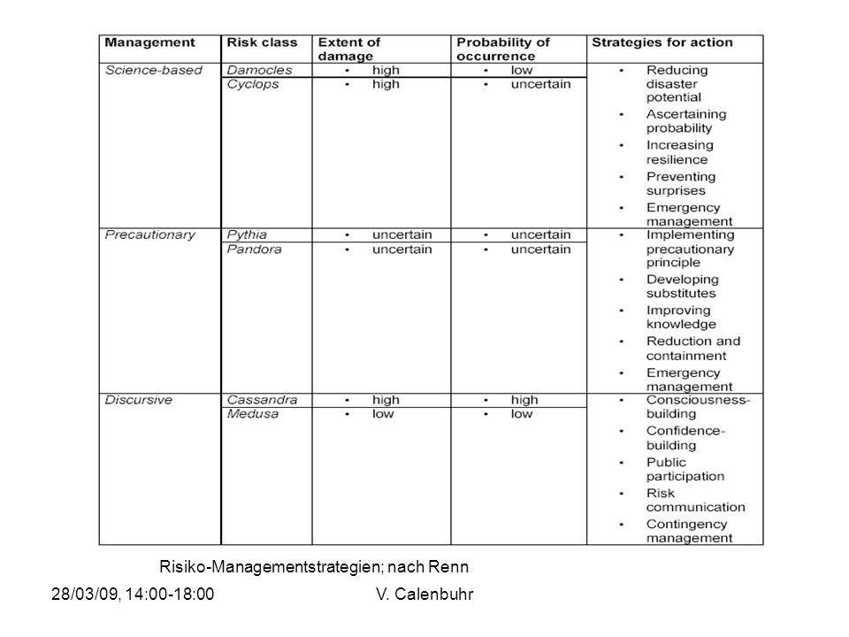 Risiko-Managementstrategien; nach Renn