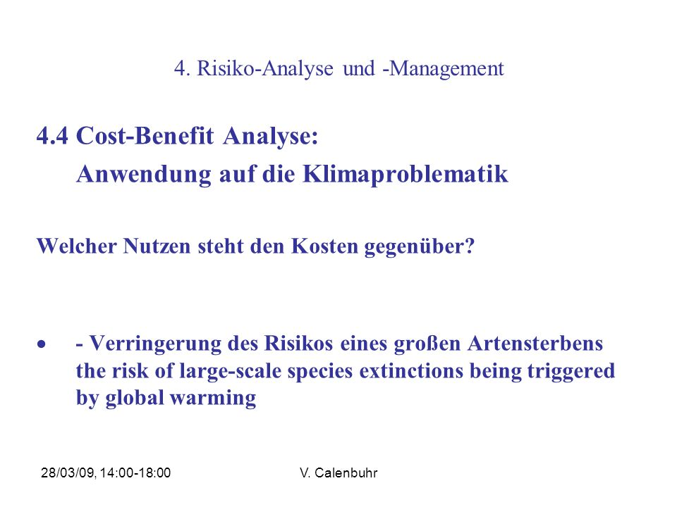 4. Risiko-Analyse und -Management