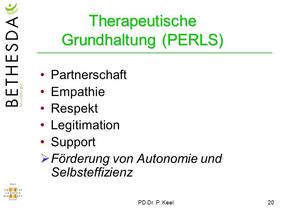 Therapeutische Grundhaltung (PERLS)