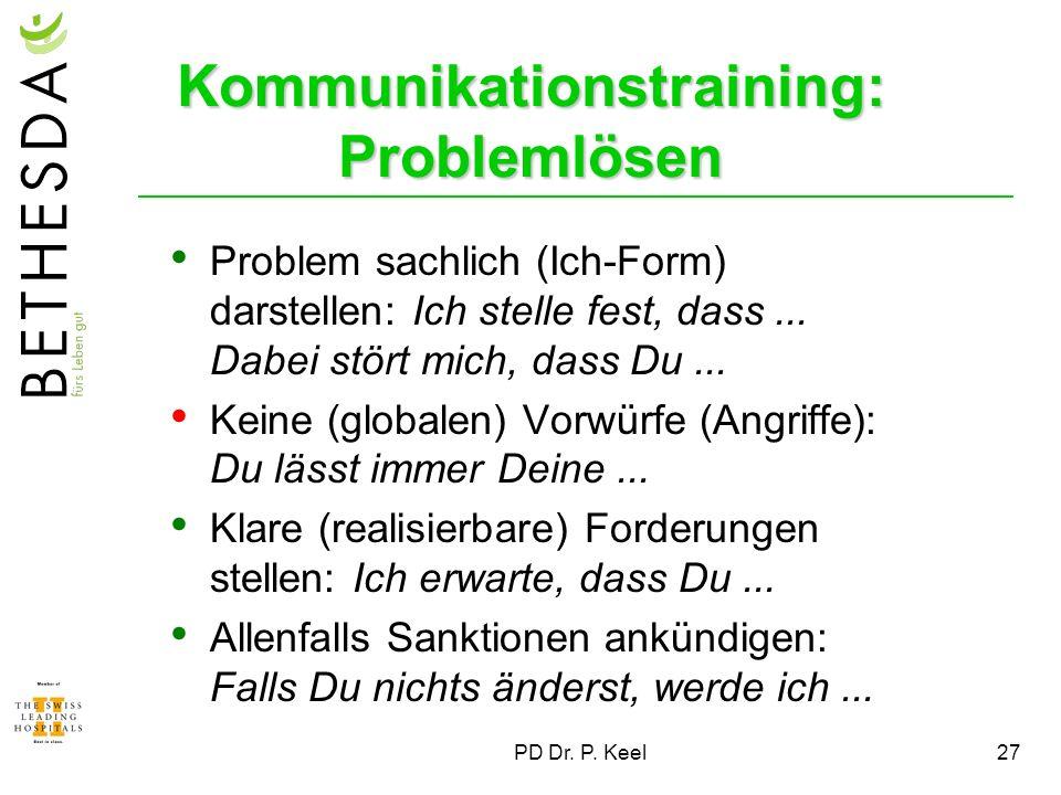 Kommunikationstraining: Problemlösen