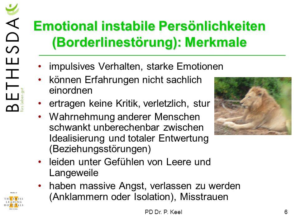 Emotional instabile Persönlichkeiten (Borderlinestörung): Merkmale