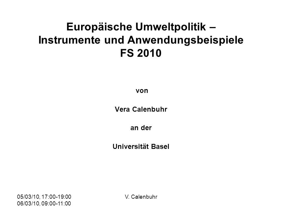 von Vera Calenbuhr an der Universität Basel