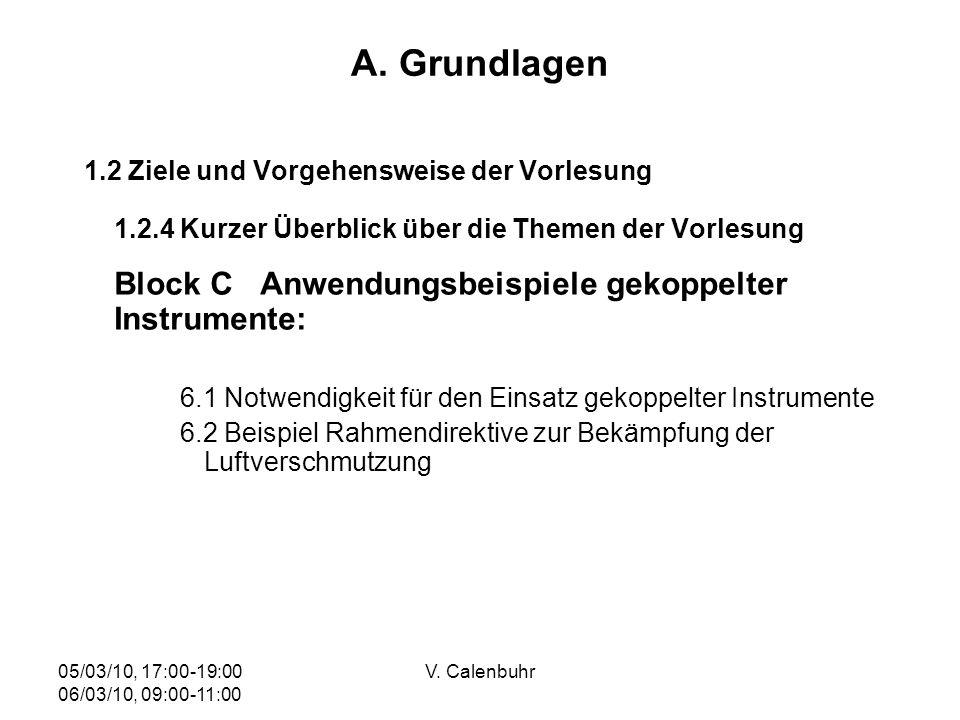 A. Grundlagen Block C Anwendungsbeispiele gekoppelter Instrumente: