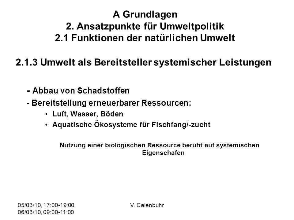 2.1.3 Umwelt als Bereitsteller systemischer Leistungen