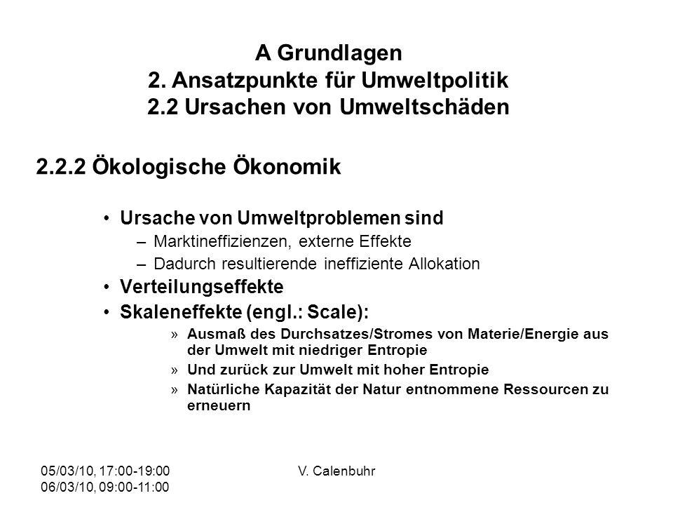 A Grundlagen 2. Ansatzpunkte für Umweltpolitik 2