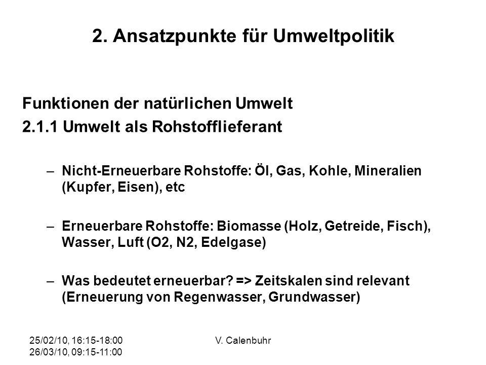 2. Ansatzpunkte für Umweltpolitik