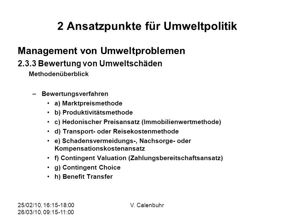 2 Ansatzpunkte für Umweltpolitik