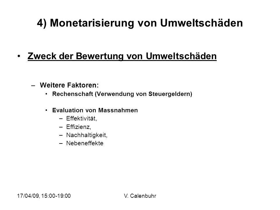 4) Monetarisierung von Umweltschäden