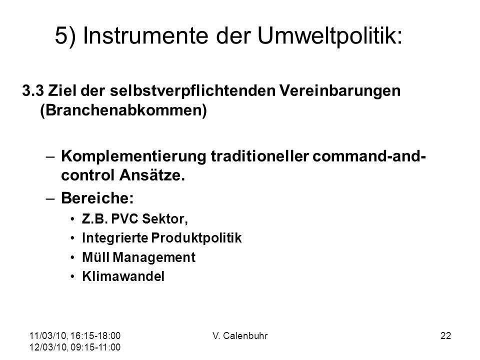 5) Instrumente der Umweltpolitik: