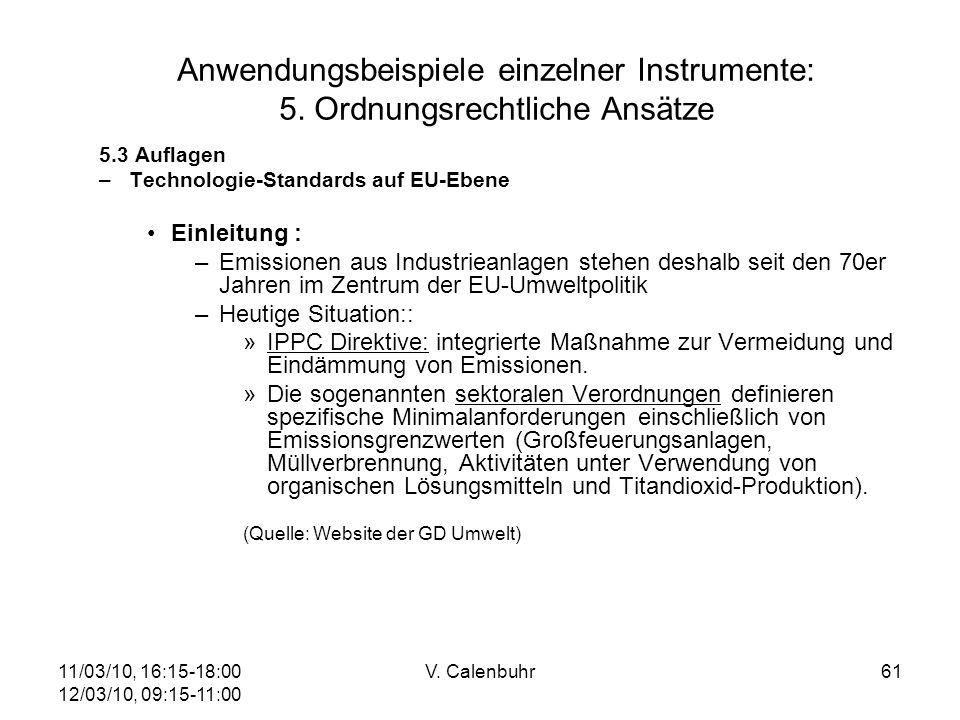Anwendungsbeispiele einzelner Instrumente: 5