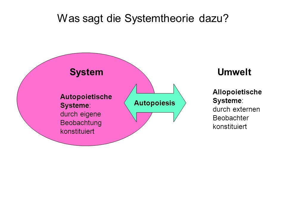 Was sagt die Systemtheorie dazu
