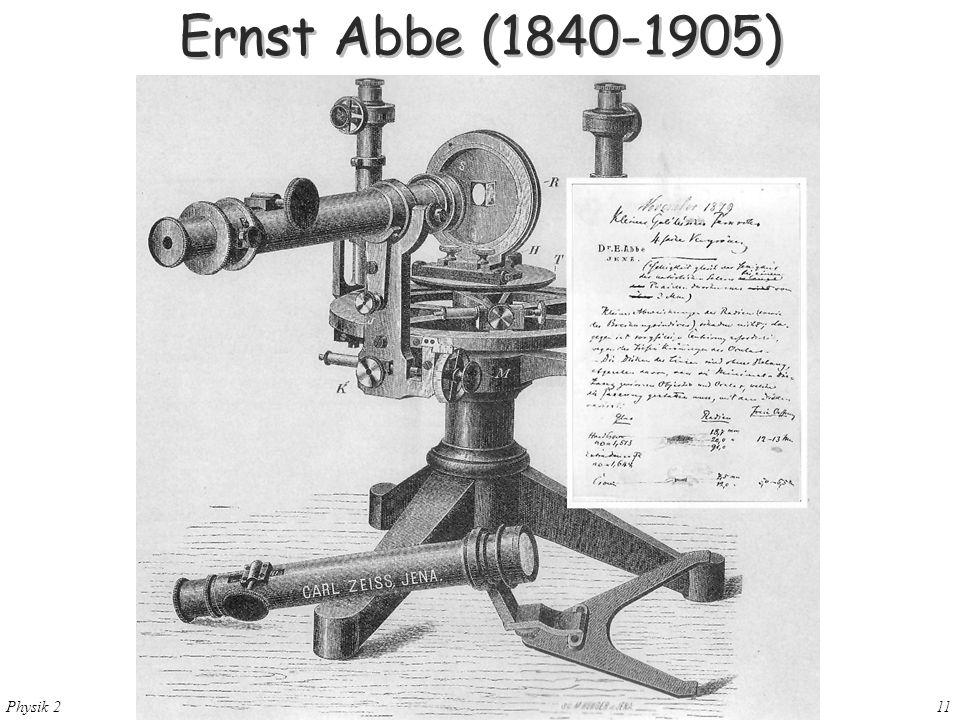 Ernst Abbe (1840-1905) 28. Mai 2004