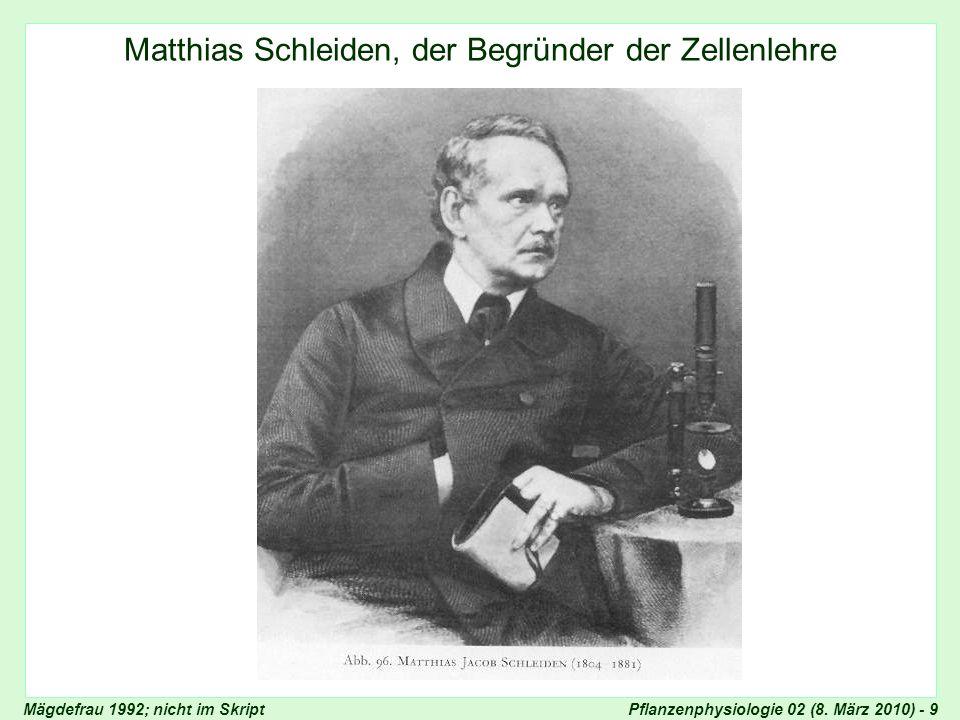 Matthias Schleiden, der Begründer der Zellenlehre