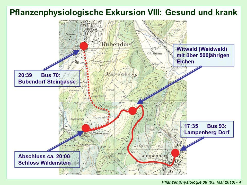 Pflanzenphysiologische Exkursion VIII: Gesund und krank