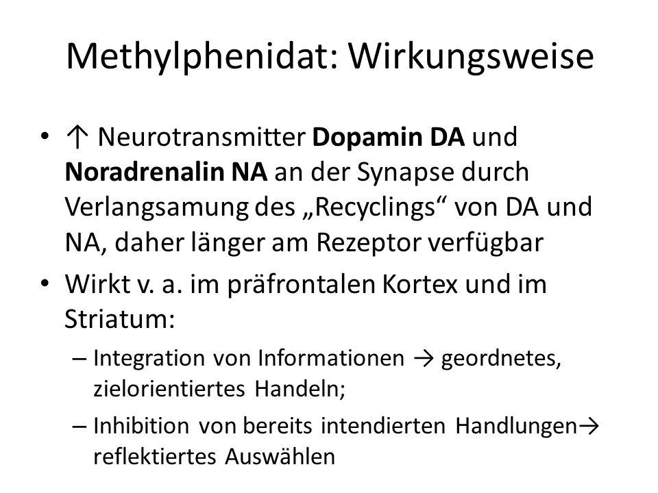 Methylphenidat: Wirkungsweise