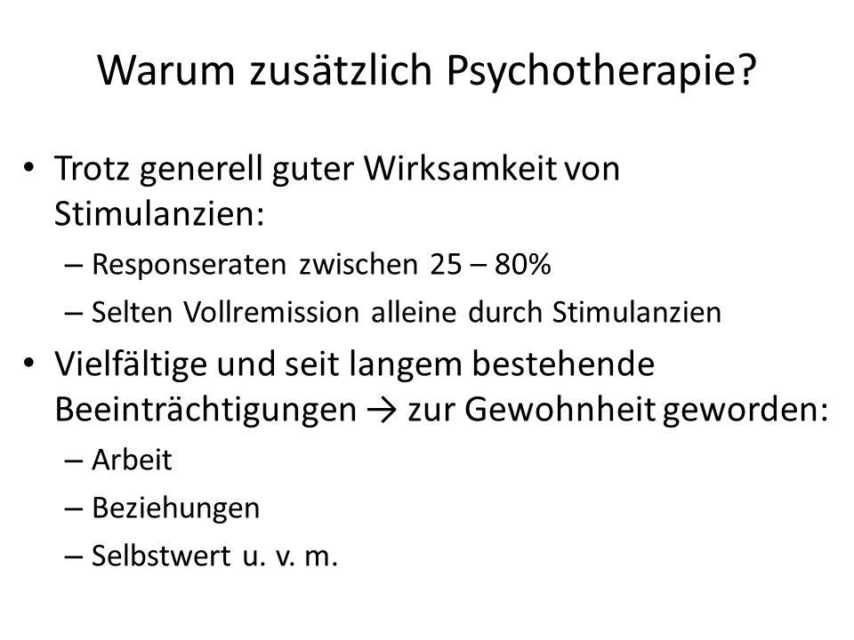 Warum zusätzlich Psychotherapie