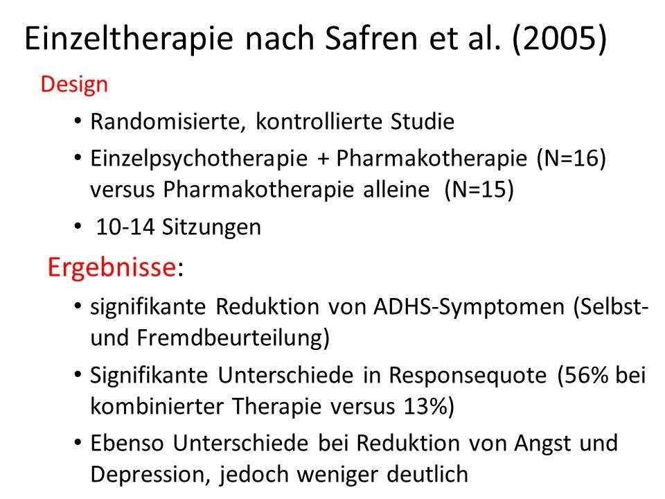 Einzeltherapie nach Safren et al. (2005)