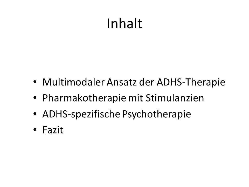 Inhalt Multimodaler Ansatz der ADHS-Therapie