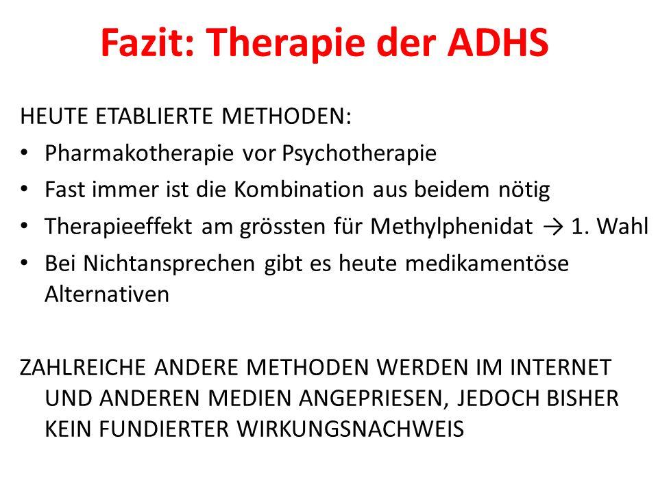 Fazit: Therapie der ADHS