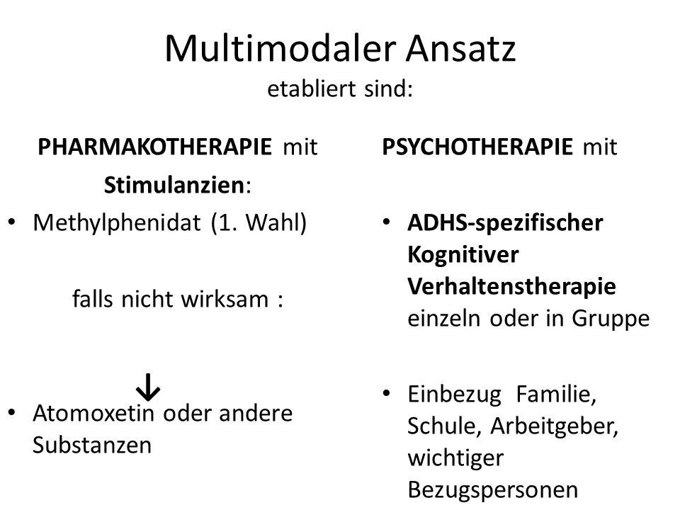Multimodaler Ansatz etabliert sind: