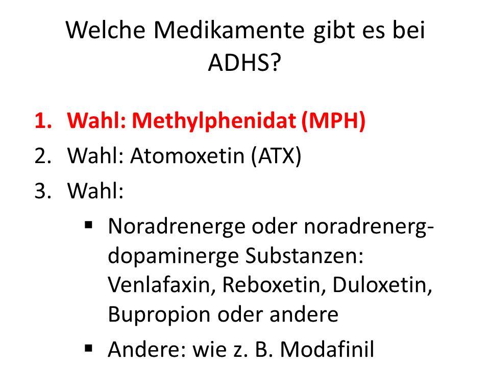 Welche Medikamente gibt es bei ADHS
