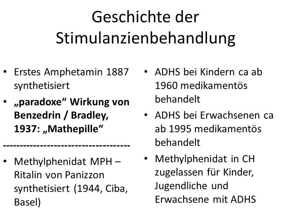 Geschichte der Stimulanzienbehandlung