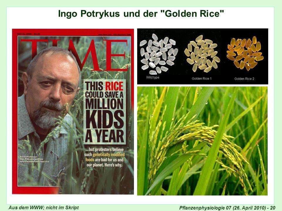 Ingo Potrykus und der Golden Rice