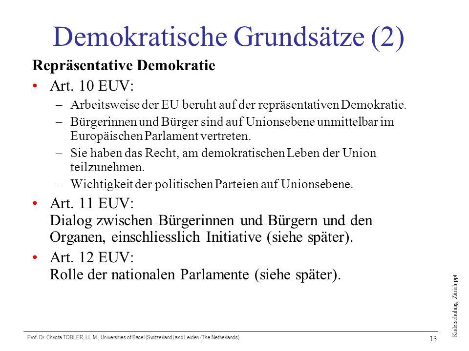 Demokratische Grundsätze (2)